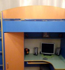 Кровать с матрасом 3в1