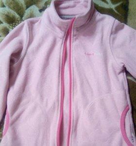 Флисовая кофта tokka, 104 розовая