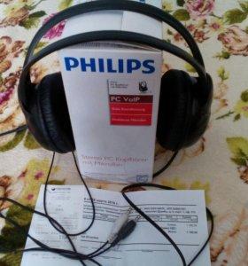 Наушники Philips.С микрофоном.