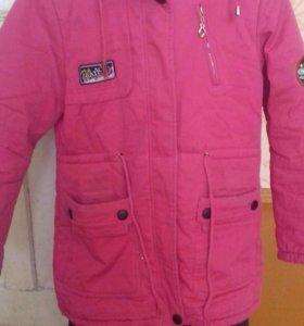 Зимняя куртка с подкладкой 10-11 лет