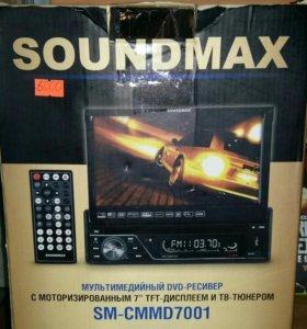Автомагнитола soundmax с выдвижным экраном