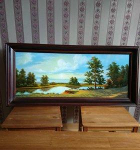 Картина 113 х 53 в багете