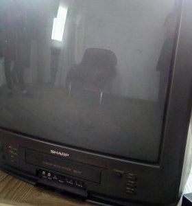 Телевизор Sharp с встроенным видеомагнитофоном