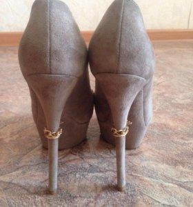 Туфли натуральная замша 36
