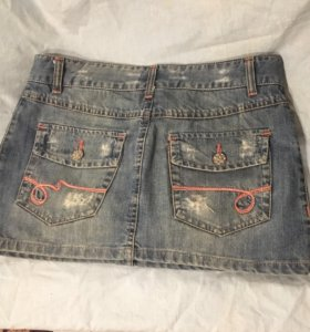 Джинсовая мини- юбка Zara