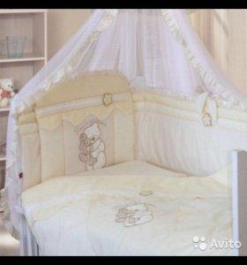 """Комплект для кроватки Золотой Гусь """"Сабина"""" 7 пред"""