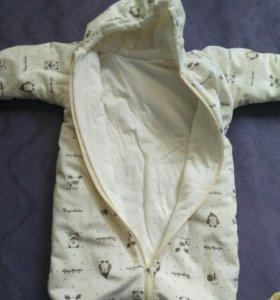 Спальный мешок-комбинезон.