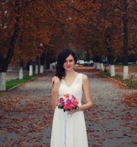 Свадебное/выпускное платье в греческом стиле.