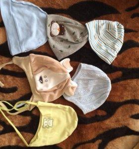 Шапки детские от 2-9 месяцев