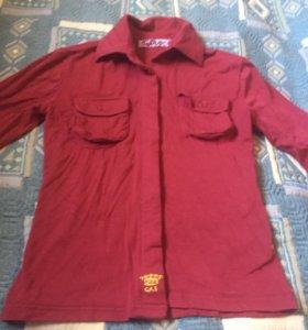 Рубашка для девочки трикотажная