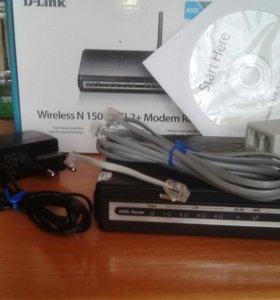 D-LINK ADSL2 роутер
