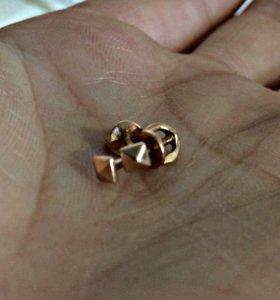 Новые золотые серёжки