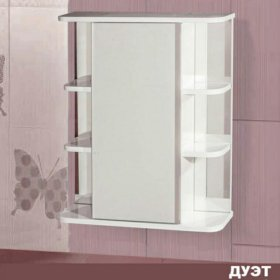 Шкаф для ванной с зеркалом Дуэт