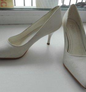 Туфли свадебные, на37-37,5