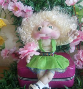 """Ручная работа.Интерьерная кукла.""""Маша и Даша"""""""