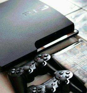 Sony PlayStation3 + 5 игр + джойстик