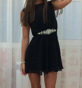 Платье чёрное коктельное