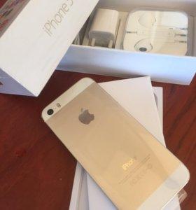 iPhone 5S Gold A1530 16Gb, как новый
