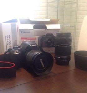 Фотоаппарат cаnon 450D, 18-55mm + 55-250 mm.