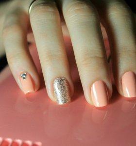 Покрытие ногтей гель лаком + дизайн