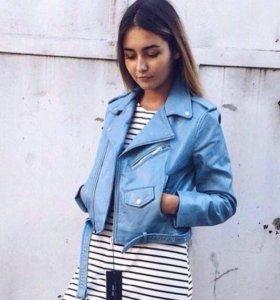 Куртка косуха голубая