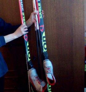 Лыжи Sable с палками и ботинками (35р-р)