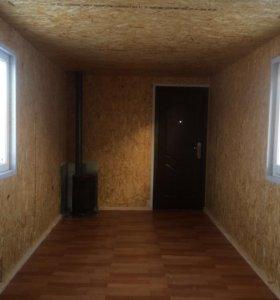 Вагончик, бытовка, домик 15 м2 с буржуйкой