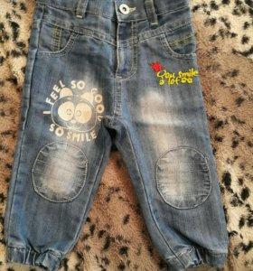 Детские джинсы 74-80р.