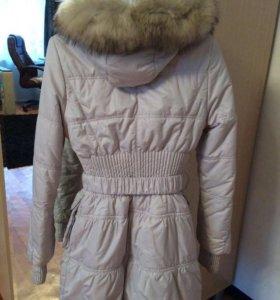 Зимнее пальто .мех натуральный