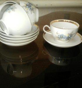 Набор чайный, голубой