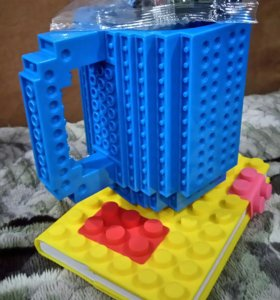 Кружка и блокнот Лего