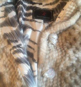 Куртка-кофта из вязаной норки