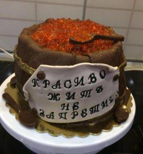 Домашние торты с мастикой из маршмеллоу на заказ