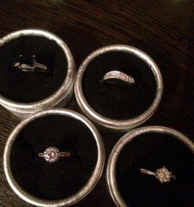 Кольца серебро 18 размер