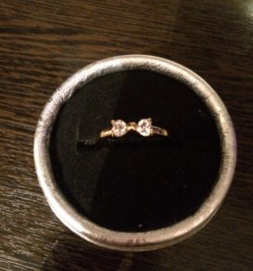 Кольцо позолота 16,5 размер