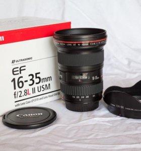 Canon EF 16-35 mm f/2.8L II USM в состоянии нового