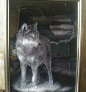 """Картина""""Белый волк"""""""