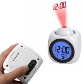 Часы-будильник с проектором новые