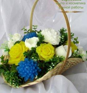 Мыло ручной работы, цветы