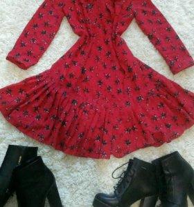 Платье, ботильоны
