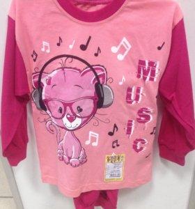 Пижама для девочки рост 98-104, 4-5лет. (новая)