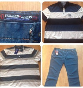 Новые джинсы и поло
