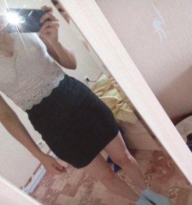 Платье, кружевная вверх
