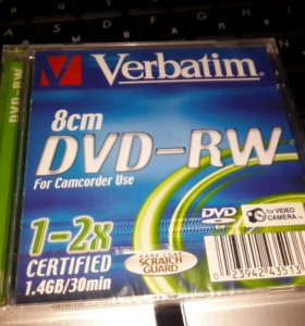 Диск 8cm DVD-RW for Camcorder Use