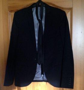 Пиджак мужской TOPSHOP + галстук, все новое