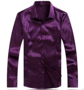 Рубашка мужская шелковая