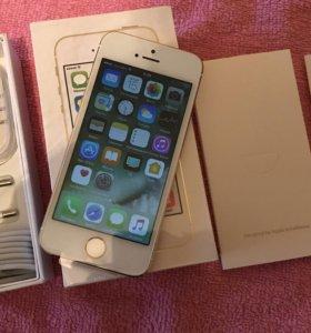 Новый iPhone 5s gold 16 gb.Оригинал