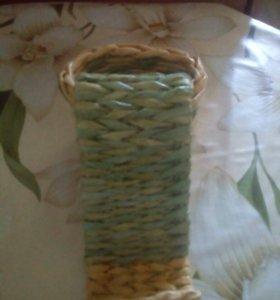 Плетеная подставка