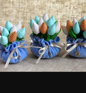 Тюльпаны из ткани в стиле Tilda!!!