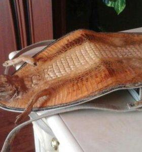 Сумка из кожи крокодила с головой и лапами обмен